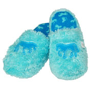 Slippers Blue Horse